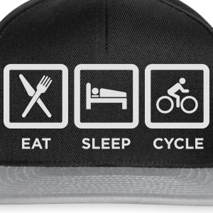 Eat Sleep Cycle Sports wear - Snapback Cap