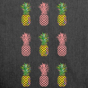 AD Pineapple Pattern Colour Tee shirts - Sac bandoulière 100 % recyclé