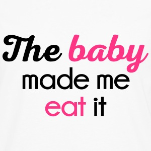 The Baby Made Me Funny Quote Forklæder - Herre premium T-shirt med lange ærmer