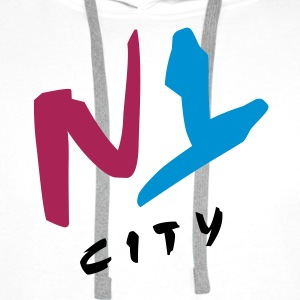 n_y_city_vec_3 T-Shirts - Sweat-shirt à capuche Premium pour hommes