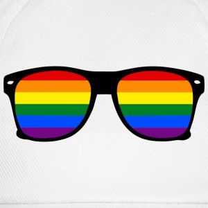 Glasses Rainbow - T-shirt Gay Pride - Basebollkeps