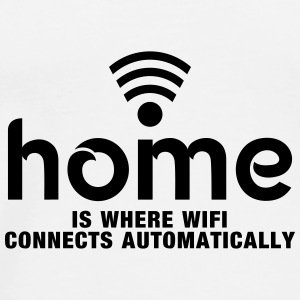 home is where the wifi connects automatically Krus & tilbehør - Herre premium T-shirt