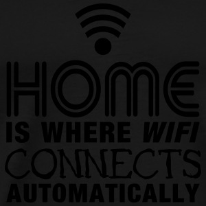 home is where the wifi connects automatically II Långärmade T-shirts - Premium-T-shirt herr
