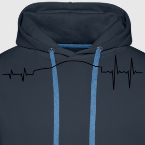 E46 Pulse Raise Sportscar T-Shirts - Men's Premium Hoodie
