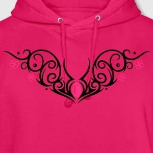 Kirschblüten Tribal, cherry blossom Tattoo Long Sleeve Shirts - Unisex Hoodie