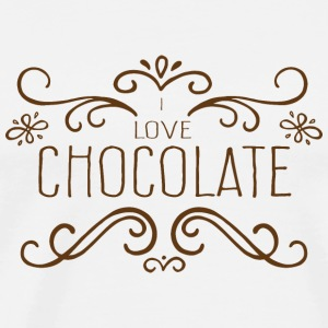 I Love Chocolate Peluches - T-shirt Premium Homme