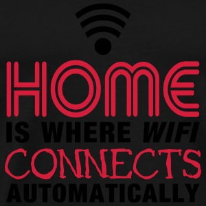 home is where the wifi connects automatically II2c Toppar - Premium-T-shirt herr