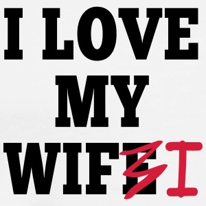 I love my wife I / I love my wifi I 2c Sportkläder - Premium-T-shirt herr