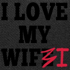 I love my wife I / I love my wifi I 2c Tröjor - Snapbackkeps
