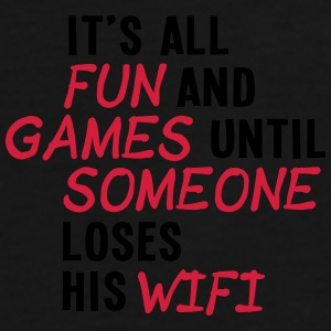 it's all fun and games until... wifi ii 2c Kepsar & mössor - Premium-T-shirt herr