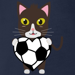 Cat with football Shirts - Organic Short-sleeved Baby Bodysuit