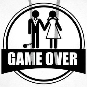 T-shirt Couples - Game Over - Men's Premium Hoodie