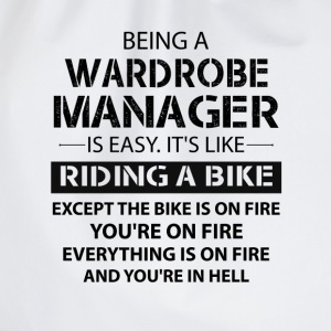 Being A Wardrobe Manager Like The Bike Is On Fire T-Shirts - Drawstring Bag