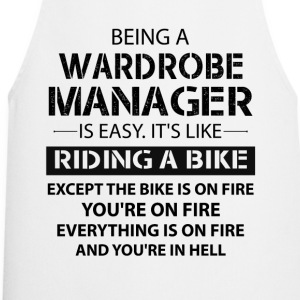 Being A Wardrobe Manager Like The Bike Is On Fire T-Shirts - Cooking Apron