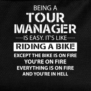 Being A Tour Manager Like The Bike Is On Fire T-Shirts - Kids' Backpack