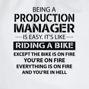 Being A Production Manager Like The Bike On Fire T-Shirts - Drawstring Bag