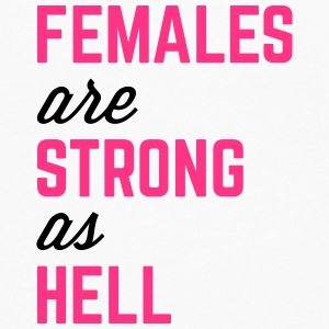 Females Strong Hell Gym Quote Vesker & ryggsekker - Premium langermet T-skjorte for menn