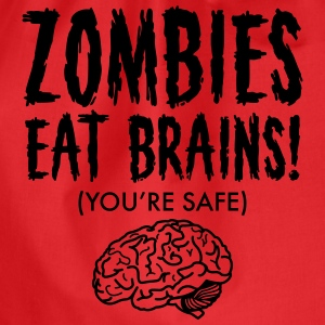 Zombies Eat Brains (You're Save) T-Shirts - Turnbeutel