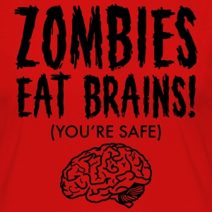 Zombies Eat Brains (You're Save) T-shirts - Dame premium T-shirt med lange ærmer
