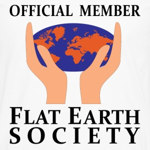Official Member Flat Earth Society T-Shirts - Men's Premium Longsleeve Shirt