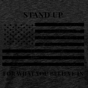 American Flag - Stand Up - Men's Premium T-Shirt