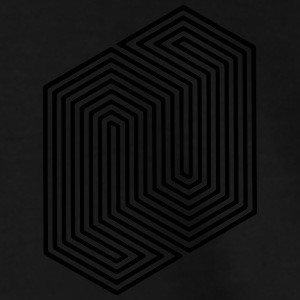 Optical Illusion (Impossible Minimal B & W Lines) Jacken & Westen - Männer Premium T-Shirt
