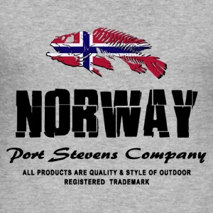 Norway Fish Flag Logo Pullover & Hoodies - Männer Slim Fit T-Shirt