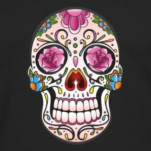 Mexican Sugar Skull, day of the dead T-Shirts - Männer Premium Langarmshirt