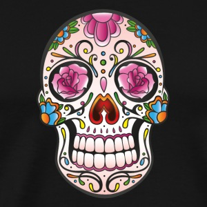 Mexican Sugar Skull, day of the dead Manches longues - T-shirt Premium Homme