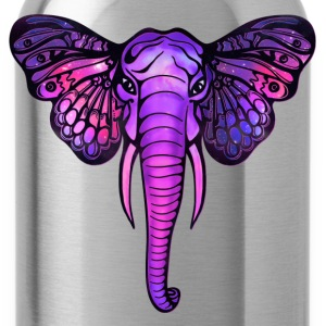 Space elephant, butterfly ears, galaxy, africa, Shirts - Water Bottle