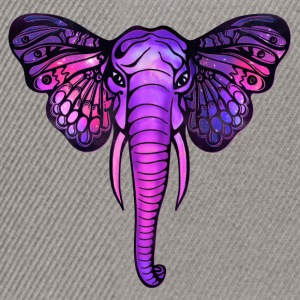 Space elephant, butterfly ears, galaxy, africa, Shirts - Snapback Cap