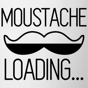 T-shirt Moustache Loading - Tasse