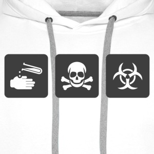 Caution Acid Tee shirts - Sweat-shirt à capuche Premium pour hommes