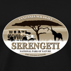 Serengeti - Elephant & Jeep Safari - Elefant Tops - Männer Premium T-Shirt