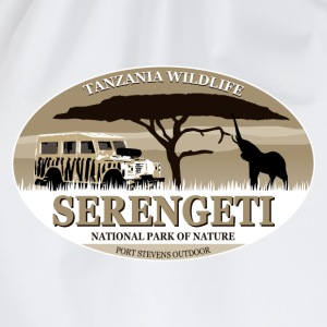 Serengeti - Elephant & Jeep Safari - Elefant Schürzen - Turnbeutel