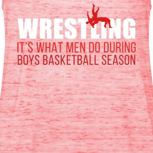 Boys Basketball Season Wrestling T Shirt T-Shirts - Women's Tank Top by Bella