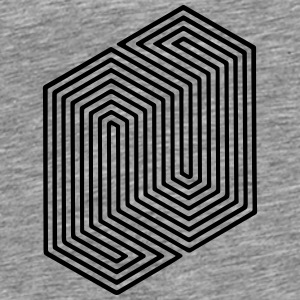 Optical Illusion (Impossible Minimal B & W Lines) Tröjor - Premium-T-shirt herr