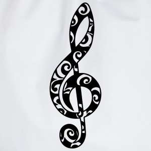 Music, note, clef, sheet, bass, choir, musician Camisetas - Mochila saco
