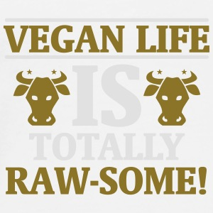 A VEGAN IS THE MOO BY LIFE! Bags & Backpacks - Men's Premium T-Shirt