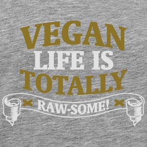 A VEGAN LIFE IS GOOD! Long Sleeve Shirts - Men's Premium T-Shirt