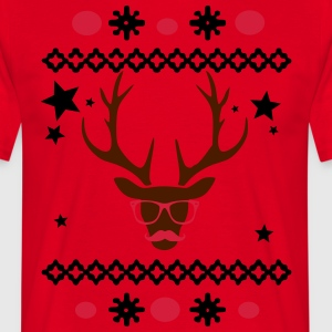 design caribou + moustache Tabliers - T-shirt Homme