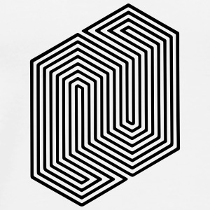 Optical Illusion (Impossible Minimal B & W Lines) Annet - Premium T-skjorte for menn