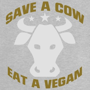 SAVE A COW - EAT A VEGETARIAN! Long Sleeve Shirts - Baby T-Shirt