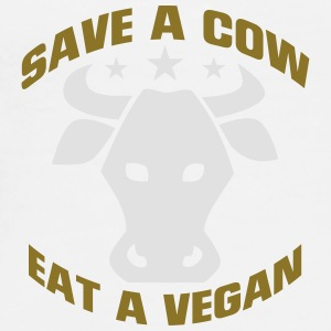 SAVE A COW - EAT A VEGETARIAN! Underwear - Men's Premium T-Shirt