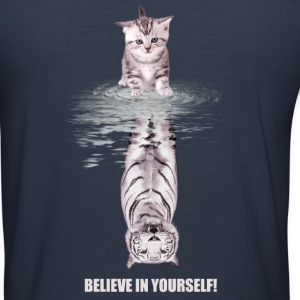 Believe in yourself Pullover & Hoodies - Männer Slim Fit T-Shirt