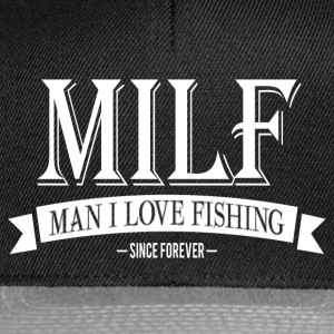 MILF / Man I Love Fishing / white T-shirts - Snapbackkeps