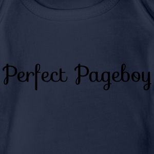 Perfect Pageboy Hoodies - Organic Short-sleeved Baby Bodysuit