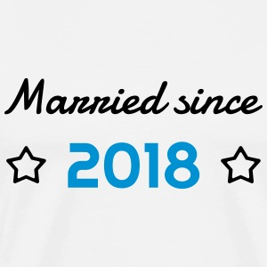 2018 - Birthday Wedding - Marriage - Love - Wife Forklæder - Herre premium T-shirt