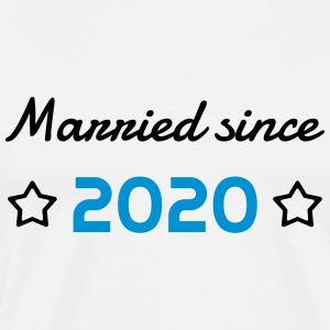 2020 - Birthday Wedding - Marriage - Love - Wife  Aprons - Men's Premium T-Shirt