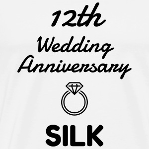 12 Silk - Birthday Wedding - Marriage - Love Forklær - Premium T-skjorte for menn